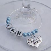 Father Of The Bride Personalised Wine Glass Charm